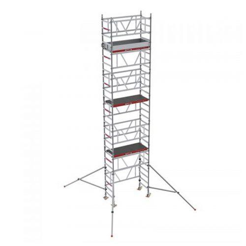 Alquiler-Torre de aluminio móvil 2,50x1,35 altura trabajo 12,20m