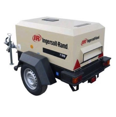 Alquiler-Compresor de aire diesel 2m3 min, 7bar