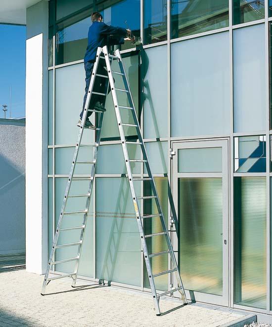 Alquiler de escalera extensible tijera 3 tramos 7 7m for Escaleras 5 metros