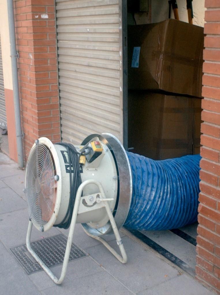 Alquiler-Ventilador industrial, Ø450mm, 7.100 m3/h, 370W