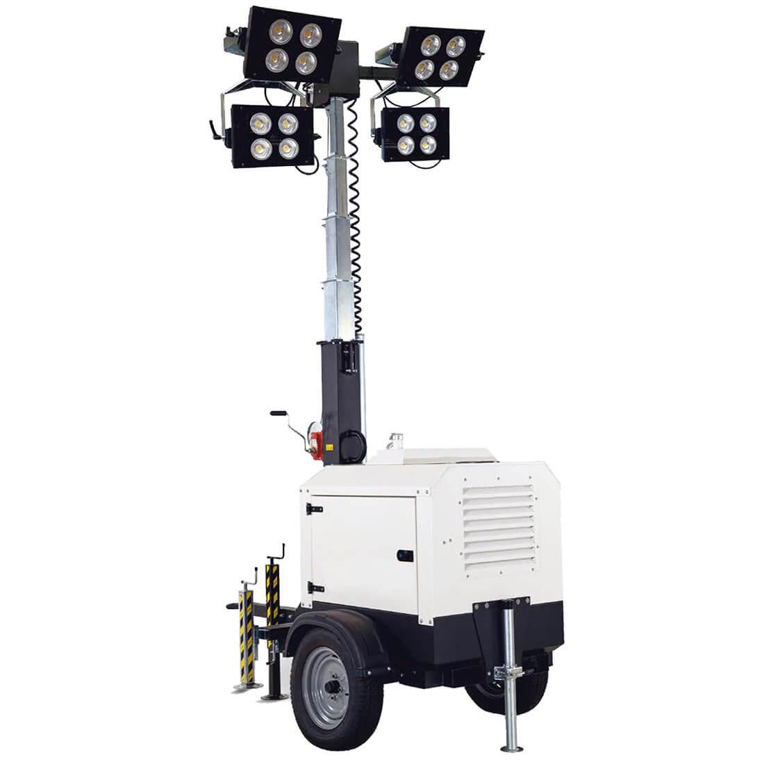 Alquiler de torre de iluminaci n 4 focos led con remolque - Iluminacion exterior led ...