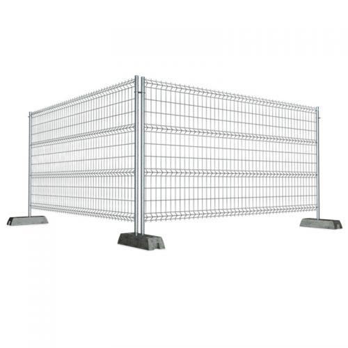 Alquila tu Valla de obra galvanizada 3,5×1,9m, incluye pie de hormigón