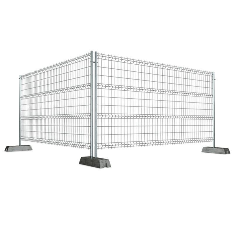 Alquiler de valla de obra galvanizada 3 5x1 9m incluye pie de hormig n maquinas y maquinas - Valla de obra ...