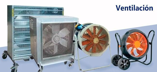 Equipode de ventilación doméstica e industrial